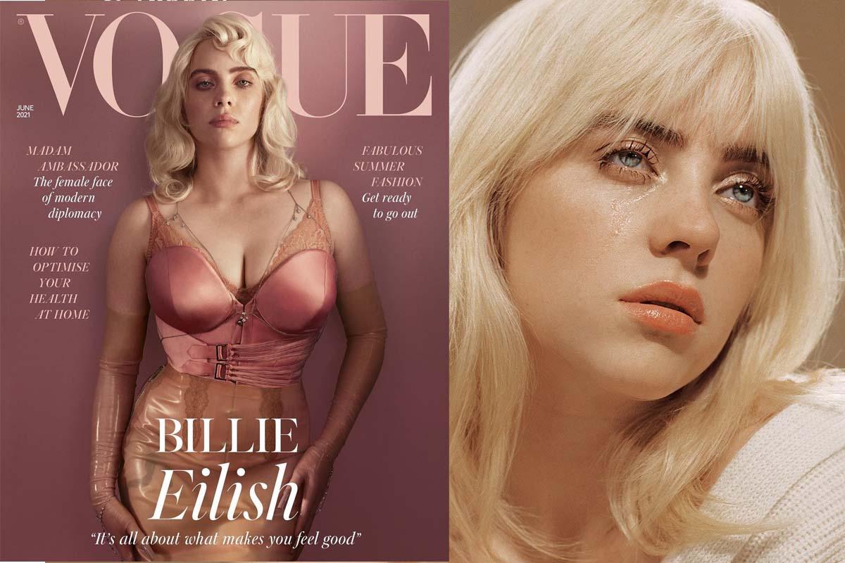 บิลลี่ ไอลิช สลัดลุคสาวฮิปฮอปอวยหุ่นบนปก Vogue Magazine